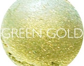 Green Gold Mineral Eyeshadow • Natural Mineral Eye Shadow • Mineral Makeup • Earth Mineral Cosmetics