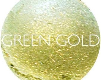 Green Gold Mineral Eyeshadow • Natural Mineral Eye Shadow • Mineral Makeup • Earth Mineral Cosmetics