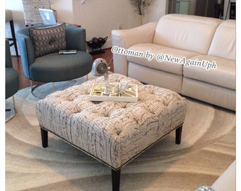 tufted square ottoman coffee table center table bench ottoman
