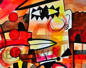 Life is? Watercolor Print, Circus Art, Circus Abstract Art, Ringmaster Print, Whimsical Art, Ringling Bros, Nursery Art, Home Decor Art, Art