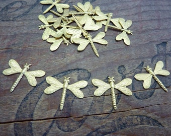 Dragonfly Raw Brass Stamping Small Dragonfly (4)
