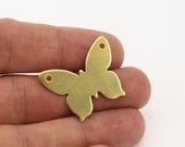 10 Raw Brass Butterfly Pendant, Stamping Blanks (30x24x0.80 Mm)   D245
