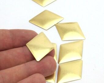 Cambered Diamond Blank, 20 Raw Brass Diamond Blanks (33x25mm)   D215