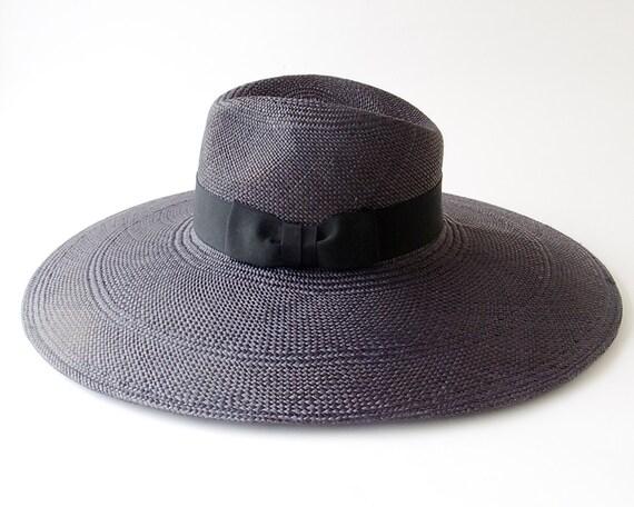 Wide Brimmed Black Fedora Hat- Women- Spring Fashion-Fall Fashion-6 Inch Brim Fedora Hat- Panama Fedora Hat- Sun Hat- Black Hat- Summer Hat