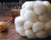 Undyed Natural White Romney Combed Top Wool Roving Spinning Felting fiber