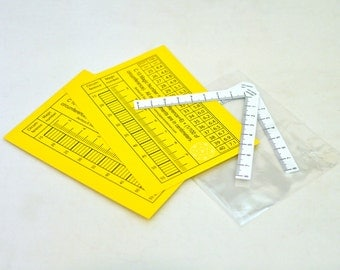 2 V-rulers for Japanese Temari - Set of 2 - very handy tool for measuring and marking