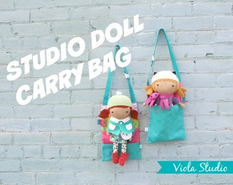 "Carry Bag with Pillow for Studio Doll 15"". Bag and Bed, Travel, Doll, Accessories, Toy"