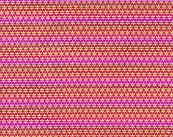 Rare Carla Miller for Rowan Fabrics a Division of Westminster CM-33 Star Flower Stripe Pink