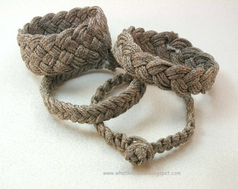lightweight heather brown rope bracelet collection wristband beach bracelet child size 3553