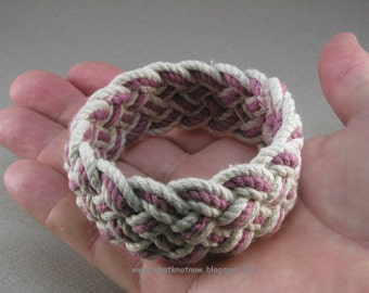 wide cranberry rope bracelet handwoven sailor bracelet armband nautical style cord bracelet hand braided cuff 419