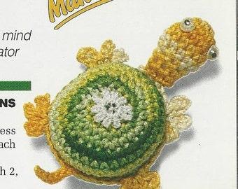 Vintage Crochet Minitature Turtle Amigurumi