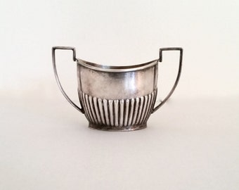 Art Deco Silver plate sugar bowl, Sheffield England