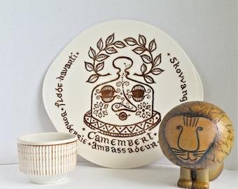 Mid Century Modern Scandinavian Design Cheese Platter