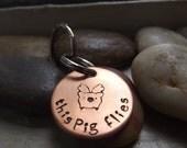Cute Flying pig Keychain