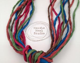 Jewel Tones Color Palette Silk Half Knot Bundle of Five 2mm Silk