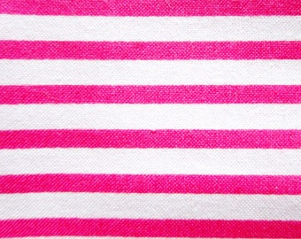 FREE SHIPPING Stripes Fabric in Pink - Japanese Cotton Fabric (F026) - Fat Quarter