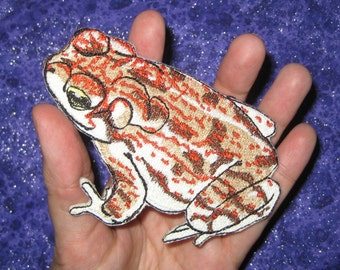 Rare red-spotted toad Bufo punctatus Iron on patch applique sew on