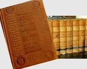 1907 Werners Encyclopaedia Britannica, 31 Vols: Ornate Art Nouveau Embossed Leather, CA State Senator Fred Gerdes' Personal Set