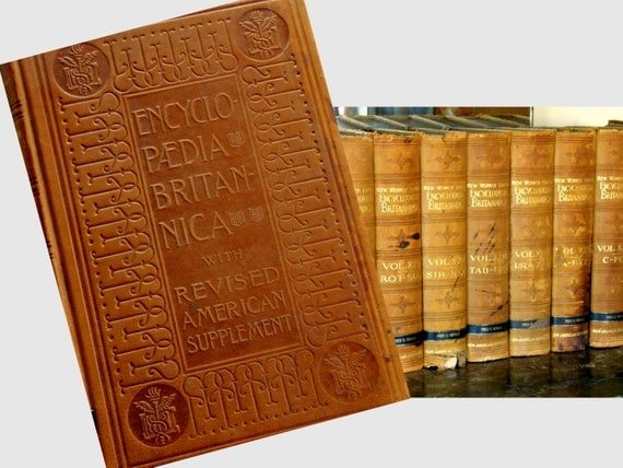 Beautifully Ornate Art Nouveau 1907 Encyclopaedia Britannica Set, 31 Vols. Werners Embossed Leather, From CA Senator Fred Gerdes' Estate