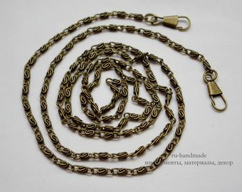 120cm anti brass purse chain handbag