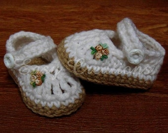 PDF CROCHET PATTERN Chubby Feet Mary Jane Baby Shoes, sizes Newborn to 12 months