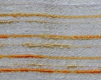 vintage 70s gold shantung drapery fabric by the yard