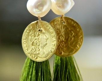 Fancy tassle earrings