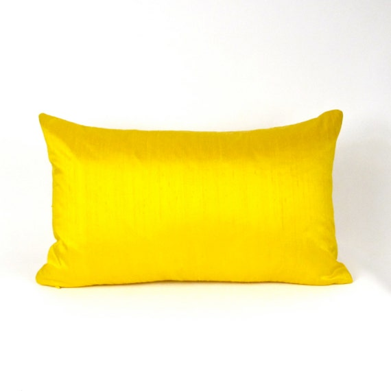 Yellow Dupioni Silk Pillow Cover Yellow Throw Pillow Cover