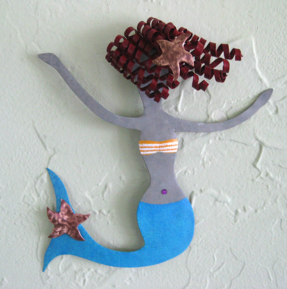 Mermaid Art Metal Wall Sculpture Marine By Frivoloustendencies