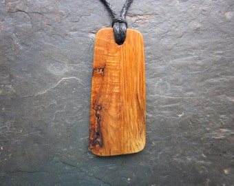 Unique Natural Wood Pendant - English Oak - for Power and Prosperity.