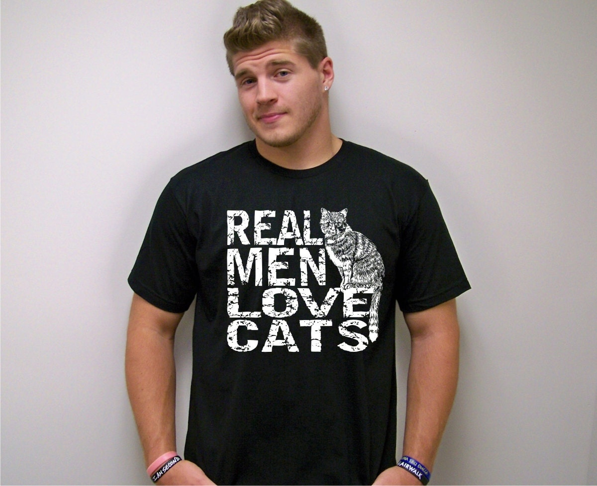 Mens tshirt Cat shirt cat dad graphic tees mens funny