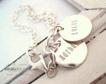 Name Bracelet . Hand Stamped Jewelry . Personalized Bracelet . Sterling Silver Bracelet . Brag About It . Brag Bracelet