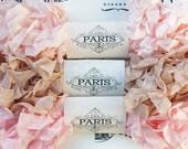 Seam Binding Scrunched Shabby Crinkled Ribbon Rayon Ribbon Blush Pink French Vintage Gift Wrap Scrapbooking Doll Making Paris Cabaret