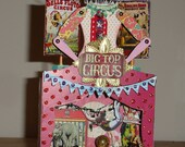 Circus Big Top Miniature Theatre~Shrine - Handmake - OOAK