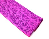 Pattern Magnet - Chart Keeper Magnetic Bookmark - Knitting Crochet Supplies Tools - Set of 3 - Flowers (purple)