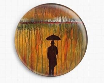 Needle Minder - Licensed Art By Robert Bretz- Rainmaker Cross Stitch Keeper - Fridge Magnet