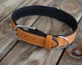 Dog Leather Collar  | CUSHY (Organic Leather)