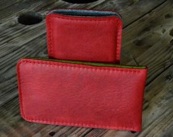 Galaxy S8, Galaxy S8+ Leather Felt Sleeve - JALAPEñO, Organic Leather