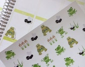 Planner Stickers Turtles and Frogs
