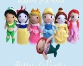 Instant Download Amigurumi Crochet PDF Pattern  - All princess -Buy set save 5 dollars