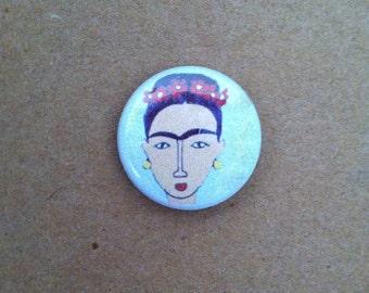 Frida Kahlo Pinback Button 1 inch
