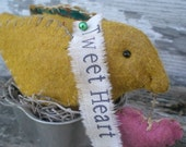 Tweet Heart A Primitive Cottage Chic Easter Spring Chick Folk Art Shelf Sitter