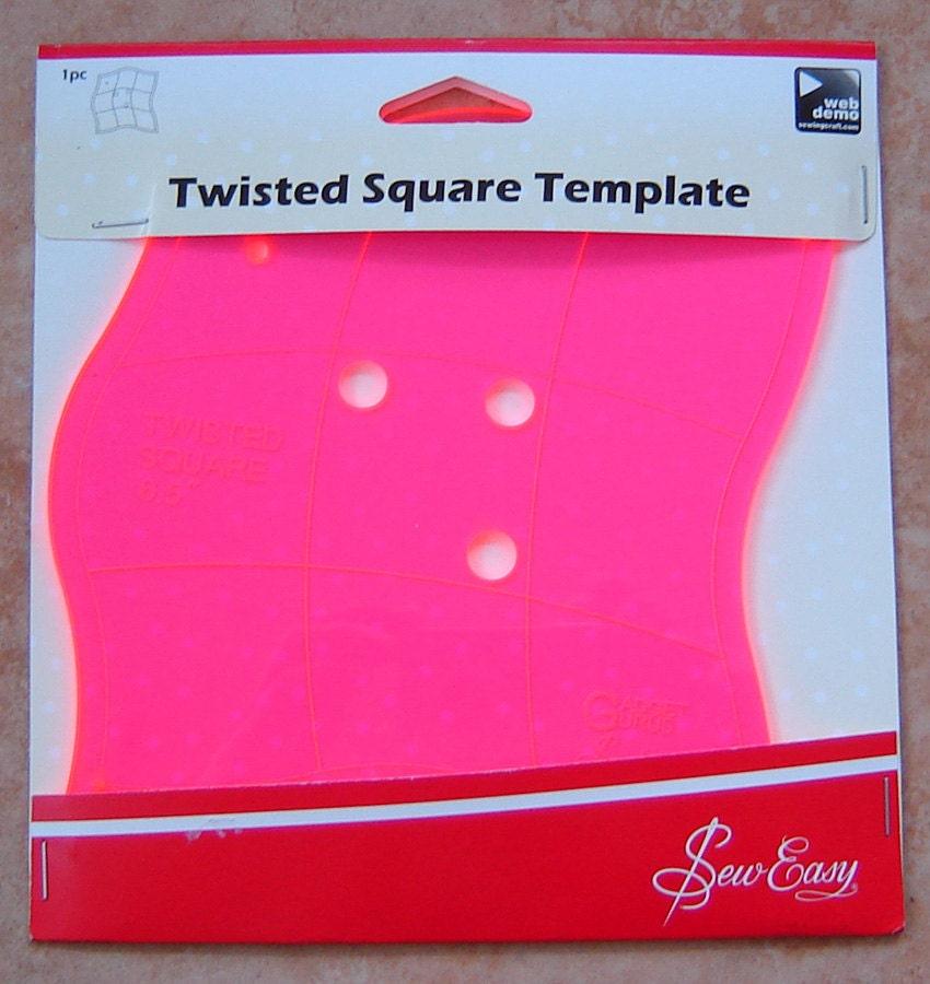Quilting Templates Square : Quilt Template Twisted Square Template Quilting Templates 6