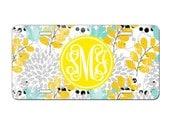 Personalized License Plate - Custom Monogram License Plate - Car Tag, Automobile Tag  - artstudio54