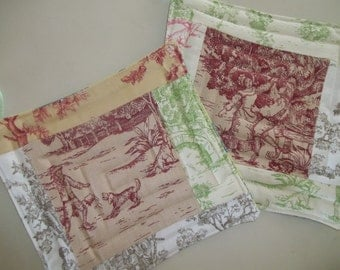 Toile Pot Holder Set of 2 Toile de Jouy French Country