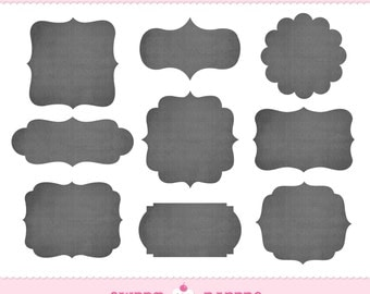 INSTANT DOWNLOAD Chalkboard Labels Clip Art Set - Commercial or Personal Use - by Sweet Papers