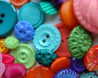 3 Dozen Antique Buttons Vintage Glass Buttons Buttons Caribbean  Beach Wedding Button Jewelry Lot  480