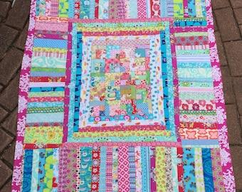 New Modern Baby Toddler Girl Crib Quilt Blanket Nursery Decor gift