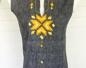 Vintage 60s 70s designer from Mexico Josefa embroidered top