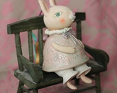 Rabbit, bell-doll, hanging sculpture object.